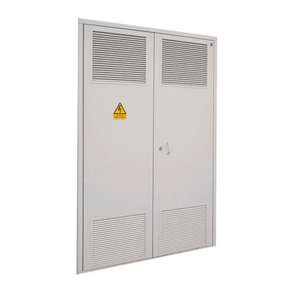 Puerta met lica 1584x2544 2 hojas para c t galvanizada for Puerta metalica exterior