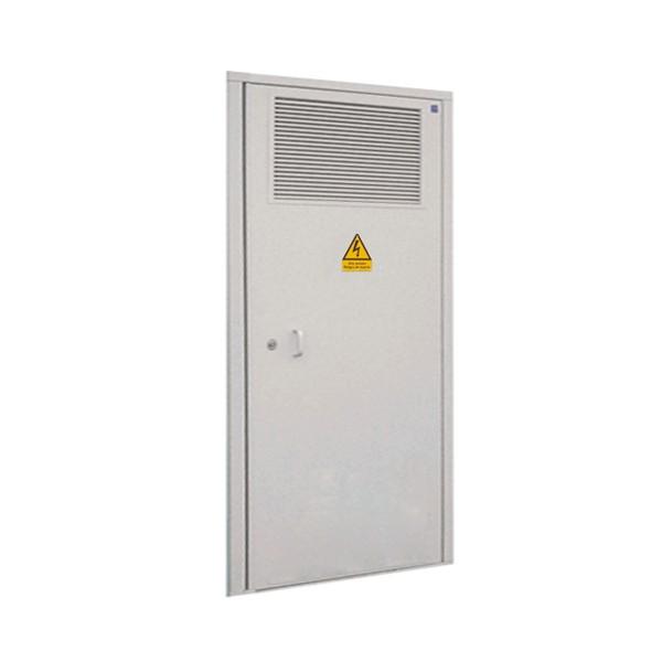 Puerta met lica 1234x2544 1 hoja para c t galvanizada for Puerta tipo louver