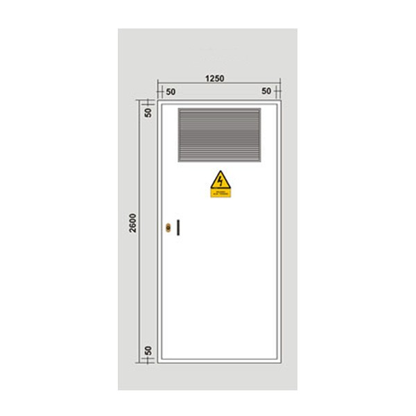 Puerta met lica 1234x2544 1 hoja para c t galvanizada for Puerta metalica exterior