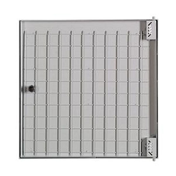 Puerta met lica 500x500 mm panelable for Puerta metalica exterior