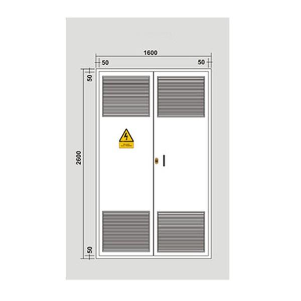 Puerta met lica 1584x2544 2 hojas para c t galvanizada - Puerta chapa galvanizada ...